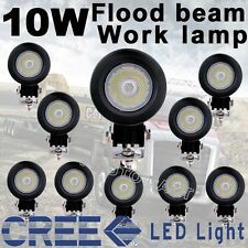 10X 800LM US Cree LED 10W Flood Work Light Car boat Truck ATV Bike Round 12V 24V