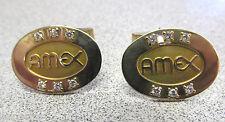 "14k Gold & Diamonds Make Offer Amex Diamond Cufflinks "" American Exchange """