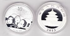 2013 CHINA SILVER 10 YUAN ONE OUNCE PANDA MINT CONDITION IN A CAPSULE