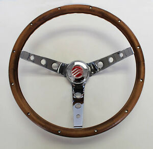 "70-77 Mercury Comet Cougar Montego Marquis Grant Walnut Steering Wheel  13 1/2"""