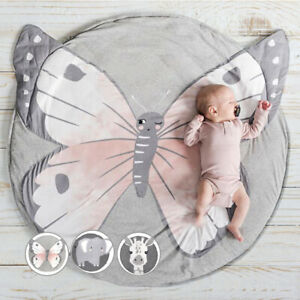 Baby Crawling Blanket Cute Round Play Mat Floor Rug Kids Floor Activity Play Mat