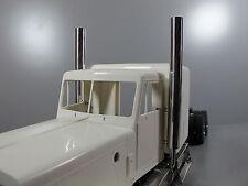 Aluminum L&R Exhaust Pipe Stack Adapter Tamiya 1/14 Semi King Hauler Globeliner