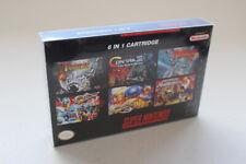 6in1 NTSC Multicartridge Snes - Turrican, Sonic Blast Man etc READ DESCRIPTION!