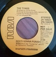 God's Gonna Punish You 45 The Tymes 1975 promo RCA Records nm minty Tymes Up