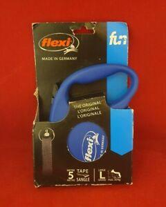 Flexi - The Original -  5m Retractable Tape Leash - BLUE
