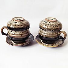 Korean Handmade Ceramic Porcelain Tea Cup Set with infuser, filter x 2 Cups