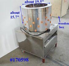 Electric Chicken Plucker Machine 195 In Barrel Feather Removal Picking Machine