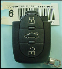 VW 98-01 beetle golf jetta 02 passat 1J0959753F REMOTE  oval 3 button oem nos