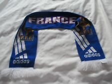 FRANCE F.F.F ADIDAS SCARF ECHARPE SOCCER FOOTBALL FOOT RUGBY ROOSTER