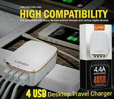 4 Port USB Portable Home Travel Wall Charger US Plug AC Power Adapter Auto-ID