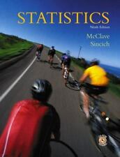 Statistics (9th Edition) McClave, James T., Sincich, Terry L. Hardcover