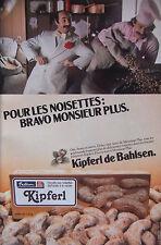 PUBLICITÉ 1979 KIPFERL DE BAHLSEN BISCUITS AUX NOISETTES VANILLÉ - ADVERTISING