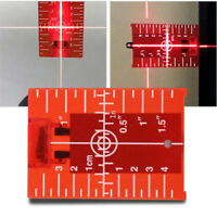 Magnetic Red Target Plate for Rotary Cross Line Laser Level Distance Meter N