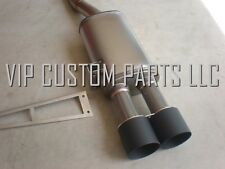 2014+ MINI COOPER S F56 EXHAUST BY VCP 100% STAINLESS STEEL (BLACK TIPS)