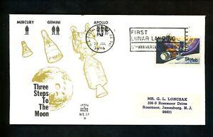 US Space Cover Apollo 11 5th Anniv. Moon Landing US Postal Service CA 7/20/1974