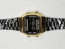 Casio watch Illuminator Alarm Chrono #3298 A168 Black