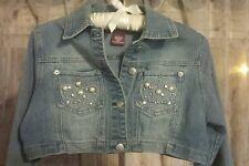 Neeso Jeans Beaded Long sleeve Stretch Bolero Shrug Jean  jacket  M