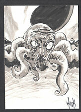 WAR OF THE WORLDS EARTH UNDER THE MARTIANS SKETCH CARD #WS2 ROBERT HACK v3