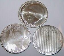 3 x 10 EURO NIEDERLANDE - 2002 / 2004 /  2005  - SILBERMÜNZE - SILBERBARREN