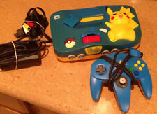 Nintendo 64 Pokemon Pikachu Blue Console System w/ Memory Expansion