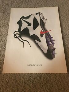 Vintage 1996 NIKE FOOTBALL CLEATS Shoes Poster Print Ad 1990s SWOOSH