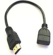 high quality Mini HDMI Female to HDMI Male cable adapter converter 0.3m/30cm
