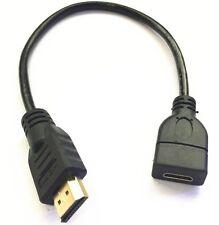 Alta Calidad Mini HDMI Hembra a HDMI Macho Cable Adaptador Convertidor 0.3m/30cm