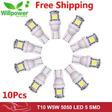10 PCS Wholesale T10 194,168,2825, 5 x 5050 SMD LED White Car Lights Lamp Bulb