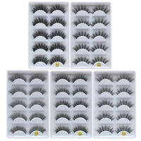 5Pair/box Strip Eyelashes False Eyelash 3D Handmade Eye Lash Extention
