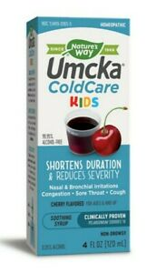 Nature's Way ColdCare Kids Syrup, Cherry Flavor 4 oz (Exp:01/31/22) 6yrs UP