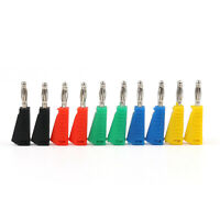 10 pcs 5 Color Nickel Plated 4mm Banana Plug Solder