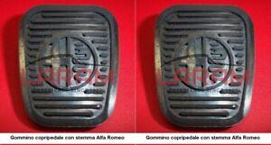 2 gommini copripedale con stemma Alfa Romeo - 2 rubber pads for pedals