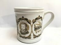 Vintage Denby West Country Mug As Great Britain Sir Francis Drake Roman Baths