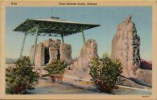 Casa Grande Ruins The Great House in Arizona AZ Postcard A18