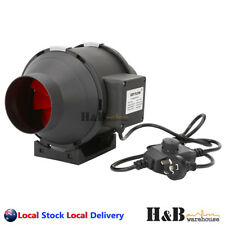 "4"" 100mm Inline Duct Fan Ventilation Exhaust Blower Stepless Speed Control"