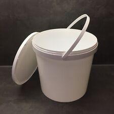10 l Liter Leereimer Kunststoffeimer Plastikeimer Eimer leer weiß mit Deckel NEU