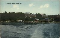 Ocean Point ME Boat Landing c1910 Postcard