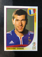 Zinedine Zidane 2002 World Cup Korea Japan PANINI sticker #38 France Invest