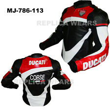 Ducati Riding Replica Motorcycle Leather Jacket MJ-786-113(USA 44,46,48)
