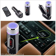 12V Car Kit Wireless FM Transmitter MP3 Player Bluetooth+Remote For Mobile Phone