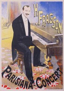 OLD POSTER TABOURET EMILE VINTAGE POSTER -  H. FRAGSON PARISIANA CONCERT ci 1900