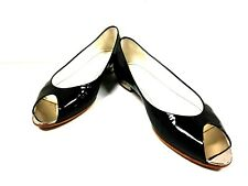 Auth CHANEL Black Patent Leather Shoes Women's #36 (US#5.5)