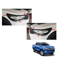 Head Lamp Light Cover Matte Black Trim To Toyota Hilux Revo Top Pick-up 15 16 17