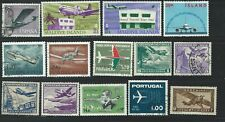 AB51  World collection of used stamps topical planes & transportation