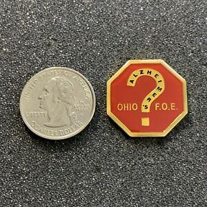 FOE Fraternal Order Of Eagles Ohio Alzheimer's ? Pin Pinback #39120