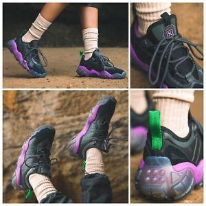 "Adidas Mens FYW Secant X ""Core black / Purple"" Trail Casual shoes size 9 GX5177"