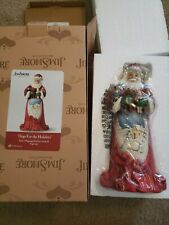 Jim Shore Heartwood Creek Hugs For The Holidays Santa Christmas Figurine 4059757