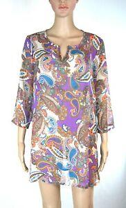 Miniabito Donna Copricostume Moda Mare Pareo LASCANA LU063 Viola Tg L XL