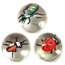 Set of 3 Insect Bouncy Ball Toys - Fun Pocket Money Toys Fillers