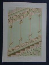 MULIER / Planche 35 / DECORATION ESCALIER Rose peinture Art Nouveau Jugendstil